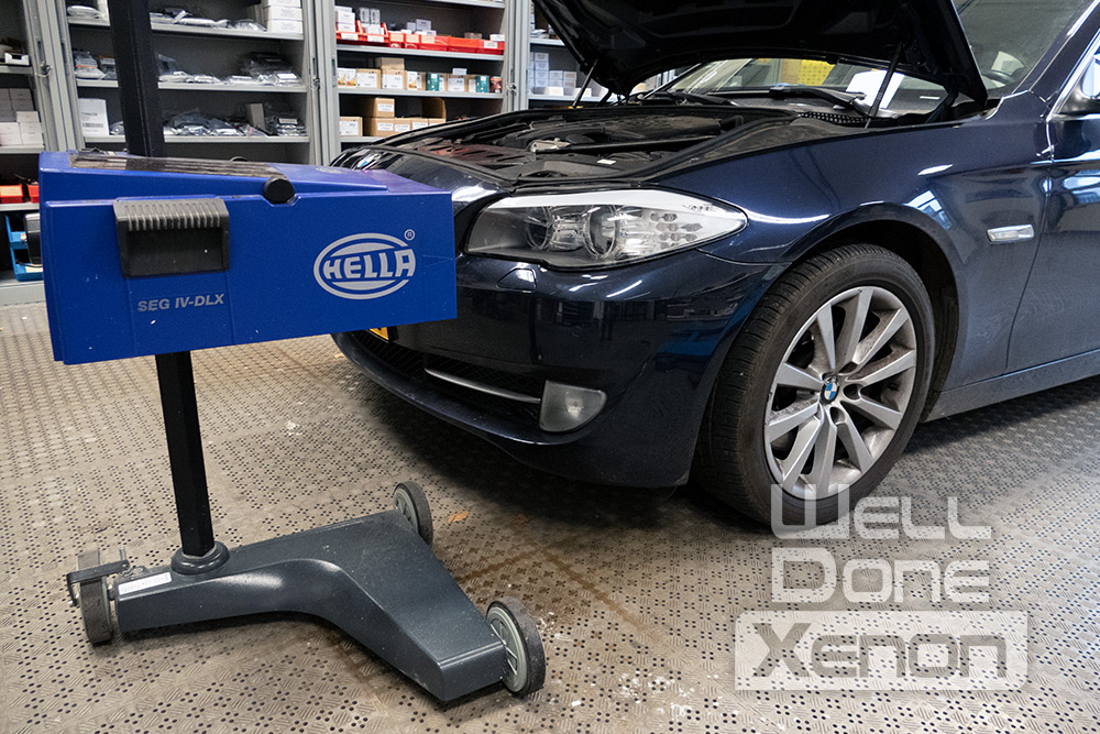 BMW 5 serie afstellen koplamp